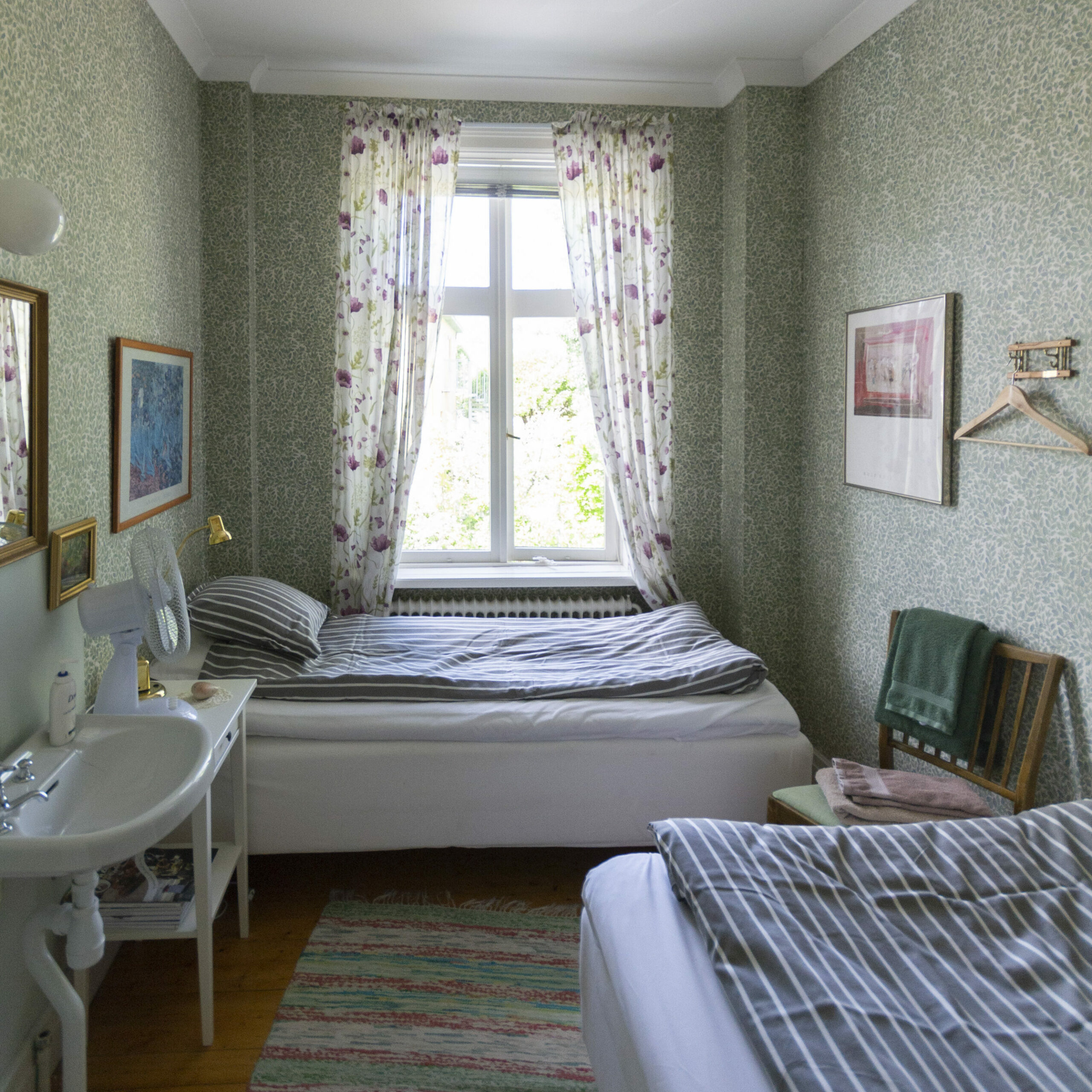 small twin bedroom top floor-main building